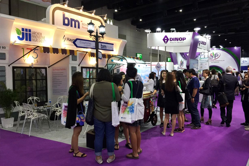 Exhibition Booth Bangkok : Regional personal care meeting supplier training and in
